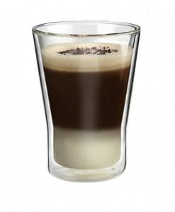 COFFEE - Double Wall GLASS Tapered 300Ml Athena