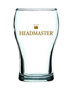 Headmaster Washington Beer Glass in 285ml and 425ml - Nucleated base for crisp beer, beaded rim for chip resistance & glasswasher safe.