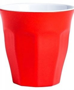Melamine Gelato Tumbler 260mL RED