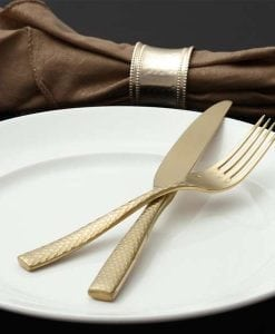 lucca brushed gold cutlery