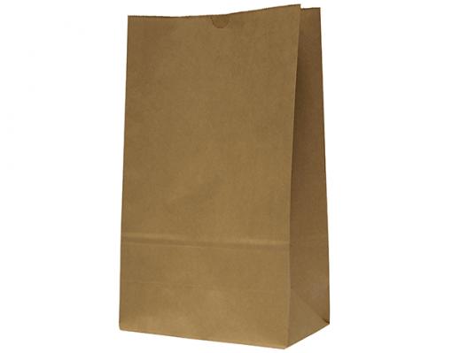KRAFT CARRY BAG FLAT BOTTOM
