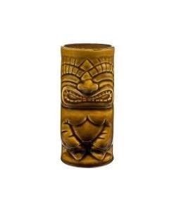 brown ceramic tiki