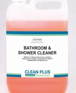 Bathroom & Shower Cleaner - 5L, 20L - Removes build-up of body fat, scum & grime. Kills germs & harmful bacteria.