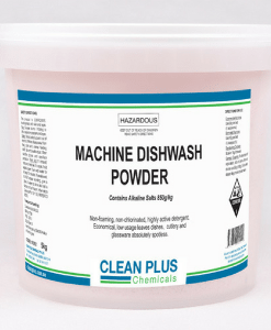 Machine Dishwash Powder - Heavy duty with built-in descaler - Dissolves grease, fats & oils for a clean wash.