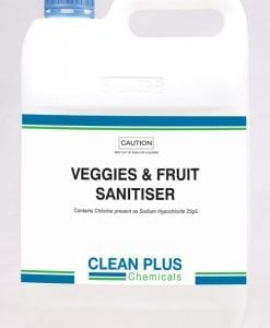 Veggies & Fruit Sanitiser - 5L & 25L - Removes all bacteria from the surface of Fruit & Veg.