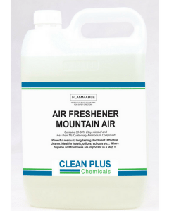 Air Freshener - Mountain Air - Economical 5L & 20L - Saves Time with 3-in-1 Formula - Deoderise, Disinfect & Clean.