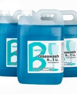 Bracton Glass Wash RTU - 5L, 15L, 25L - Brewery approved - Suitable for manual glasswashing or with automatic glasswash machines. Descales & cleans for a hygienic & perfect finish.