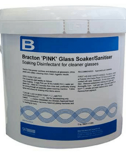 Bracton Glasswash Powder - Pink - 5Kg - Removes scale, cloudy & chalky residues, lipstick and other stains.