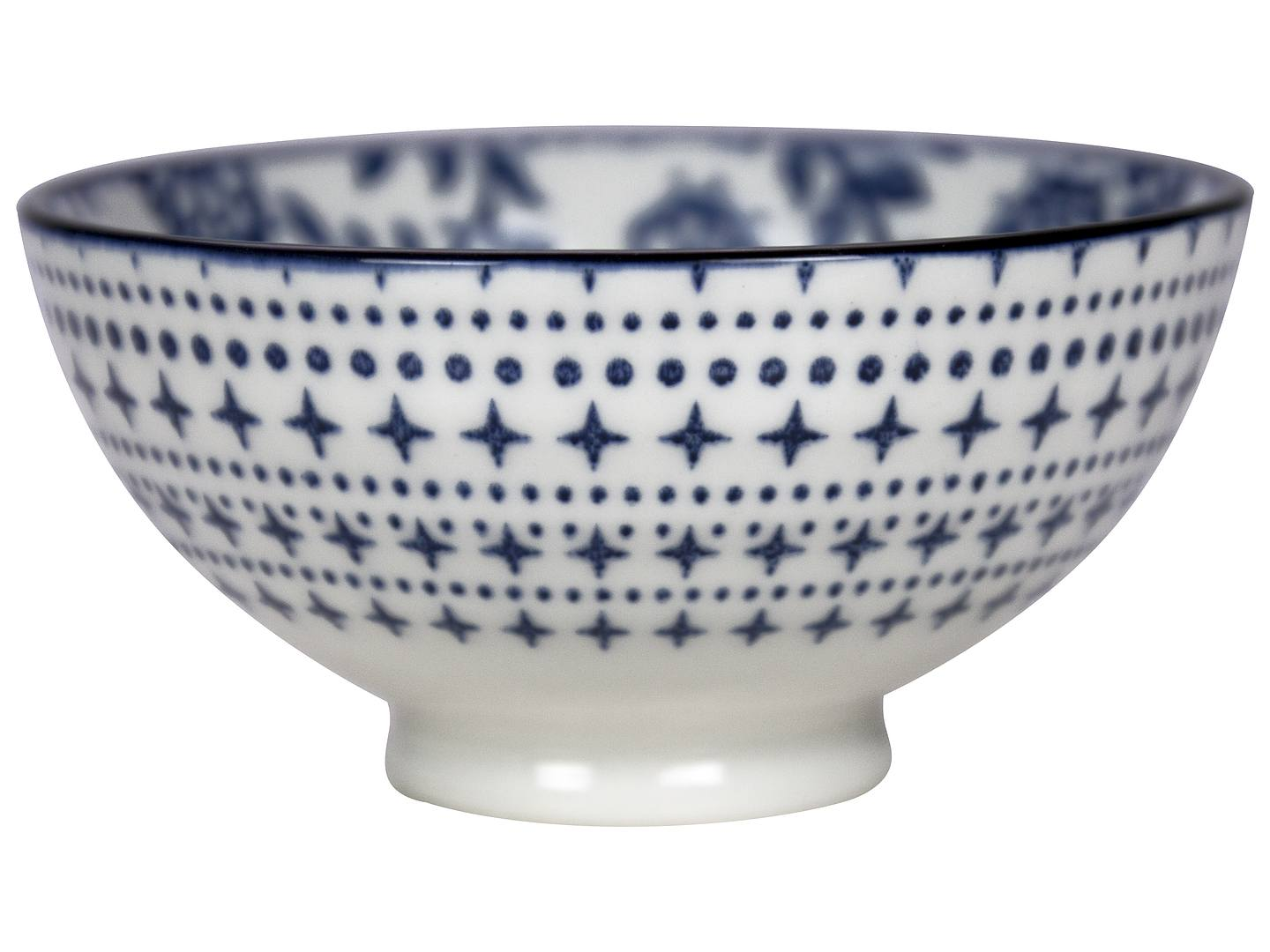 Gusta Out Of The Blue Flowers Round Bowl 100mm - Johnson Hospitality