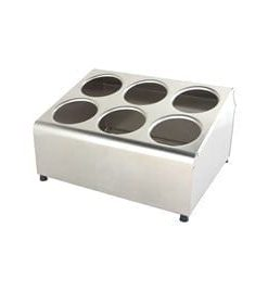 CUTLERY HOLDER STAINLESS STEEL BLOCK 2 ROW 6 HOLE