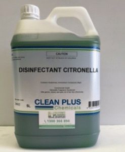 Disinfectant Citronella & Bar Fly - Economical 5L & 20L pack - Commercial Grade to Kill Germs effectively. Deters Bar Flies.