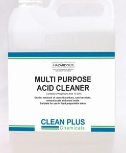 Multi Purpose Acid Cleaner - Economical 5L - Removes cement & sand residue, mineral scale, & metal oxide.