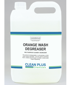 Orange Wash Degreaser - 5L - Degrease engines, workshop floors & outside areas.