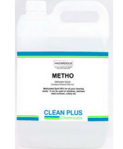 Methylated Spirits - 5L & 20L - Removes streaks and stains from windows, stainless steel, cutlery & more.