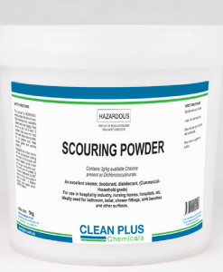 Scouring Powder - 5Kg, 20Kg - Cleans, deoderises & disinfects - Removes body fats & uric acid build-up from Showers, Toilets, Basins & Benches.