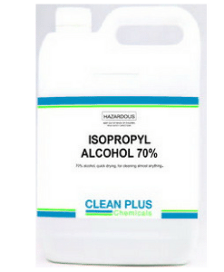 Isopropyl 70% Alcohol - 5L - Multi-purpose, gentle, and non-abrasive cleaner.