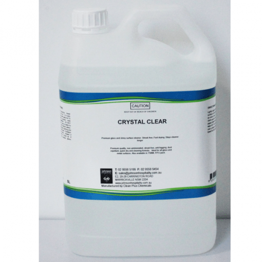 Crystal Clear - 5L & 20L - Clean & smear-free glass & metal cleaner.