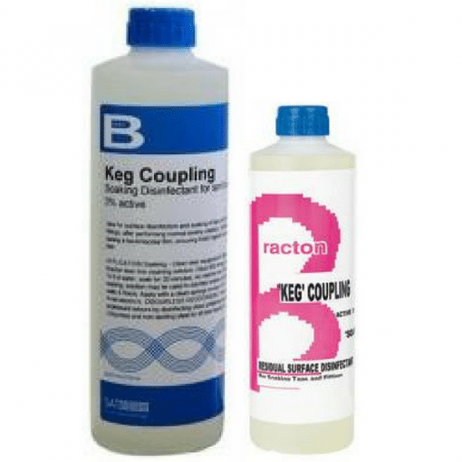 Bracton-Keg Coupling Disinfectant - 500Ml & 1L - Colourless & Odourless - Brewery aproved - Kills & prevents bacteria.