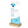 Wooden Menu Holder - DL Portrait Straight - Holds Menus & Signs on your bench or tabletop.