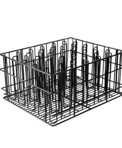 Glass Basket Black 12 Compartment