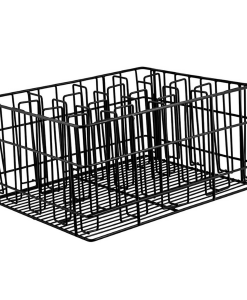 Glass Basket Black 16 Compartment